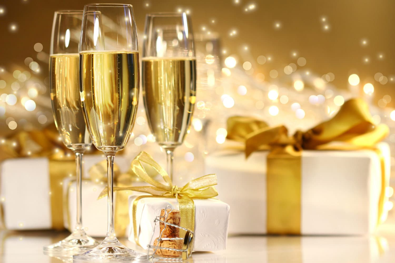 Hogmanay Champagne Drinks