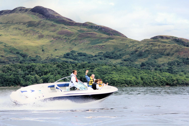 Beau Jangles Boat on Loch Lomond fun