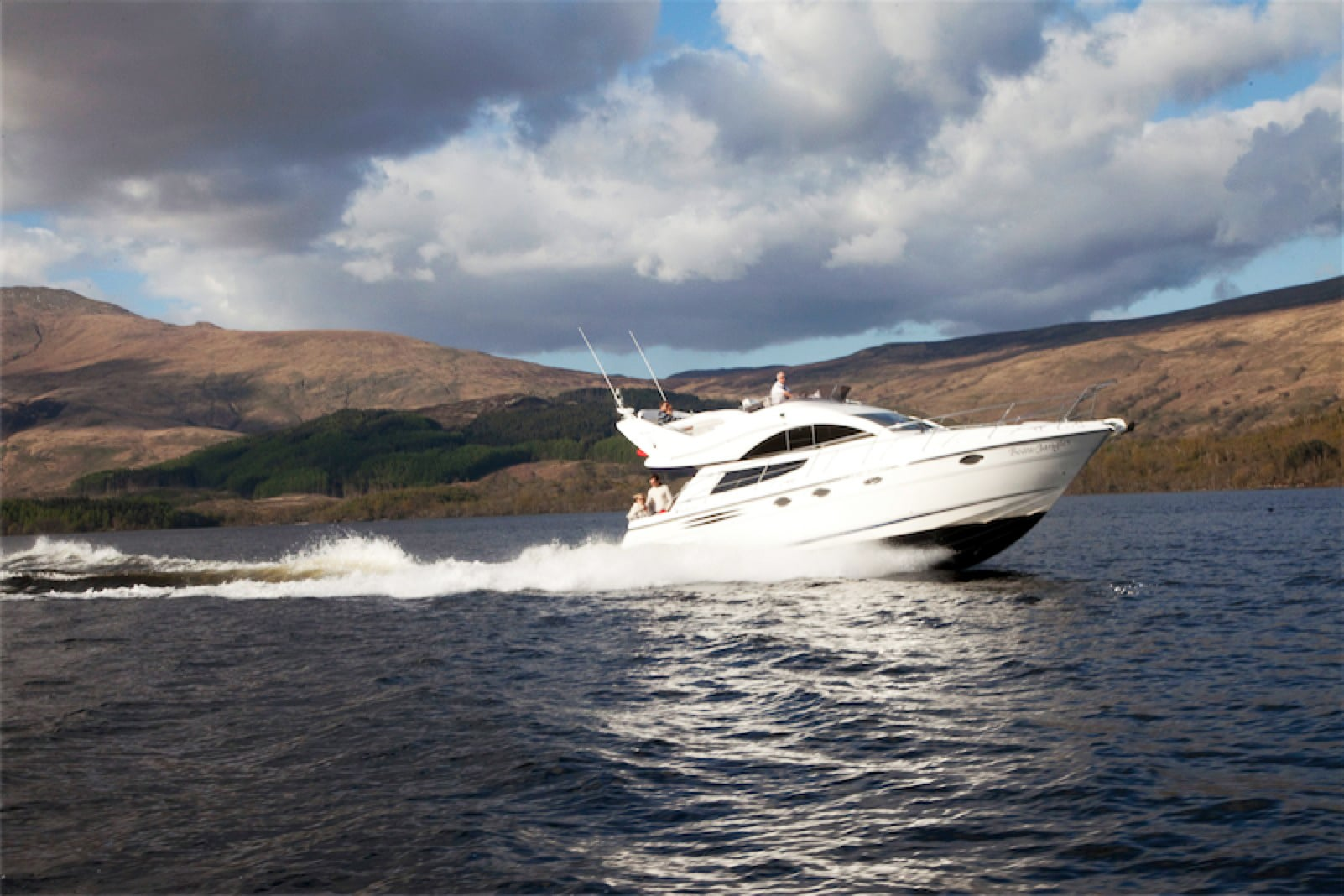 Beau Jangles Boat on Loch Lomond