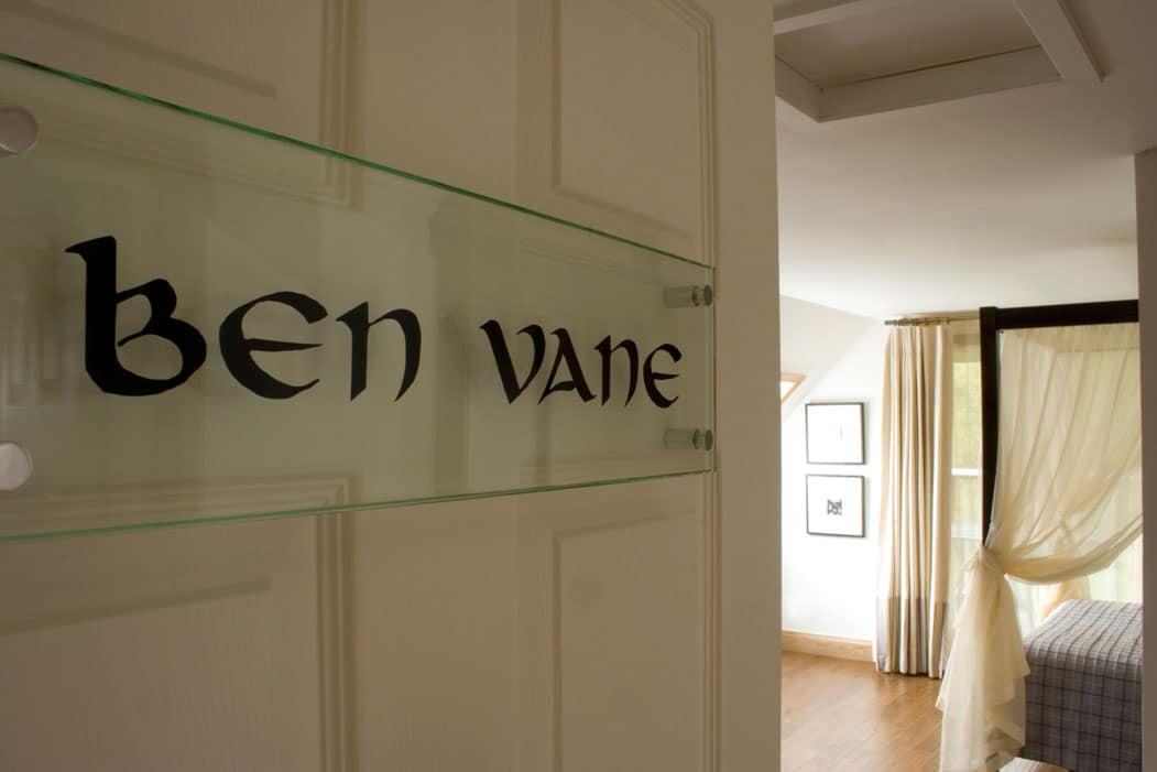 Ben Vane room entry sign