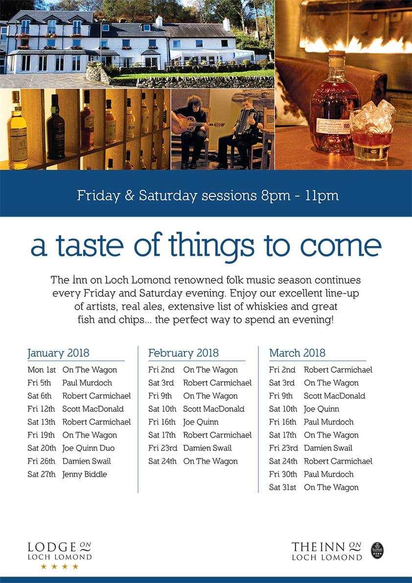 Inn events January till March 2018