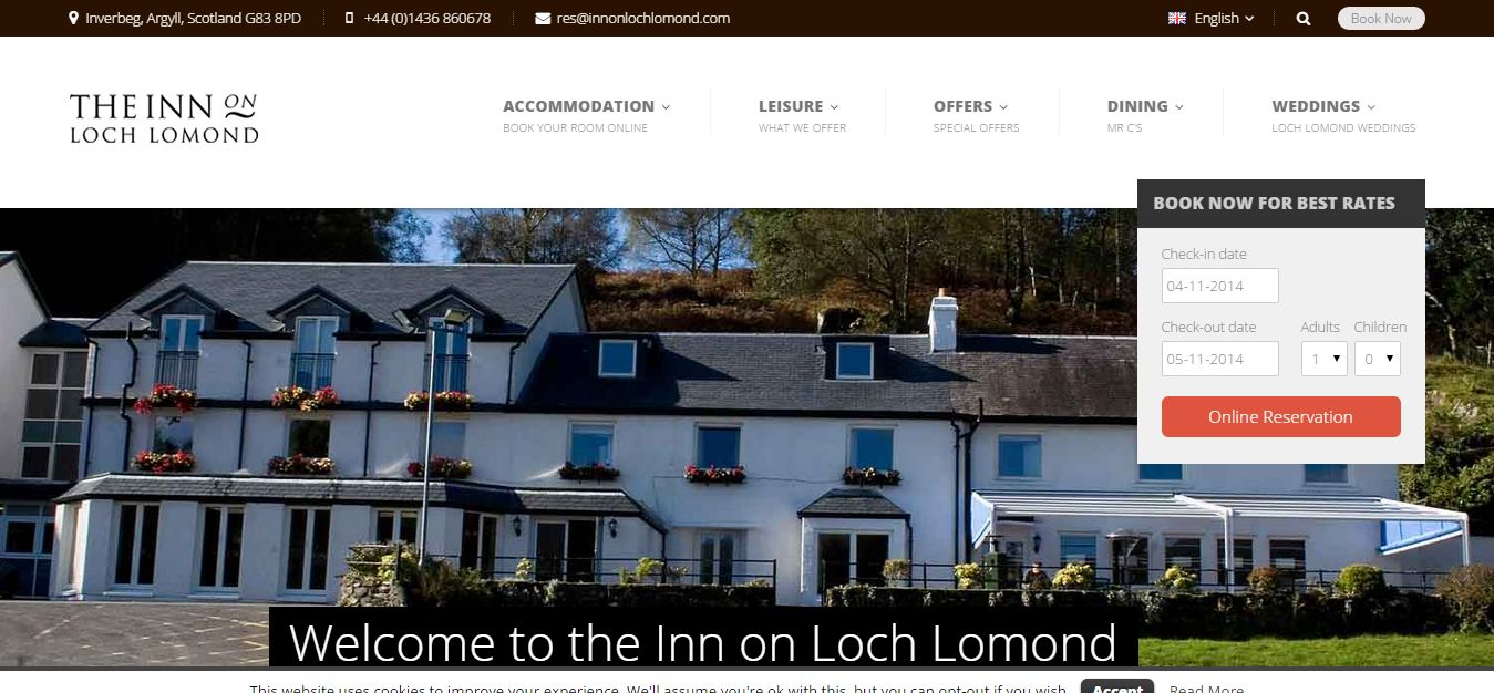 The Inn on Loch Lomond New Website