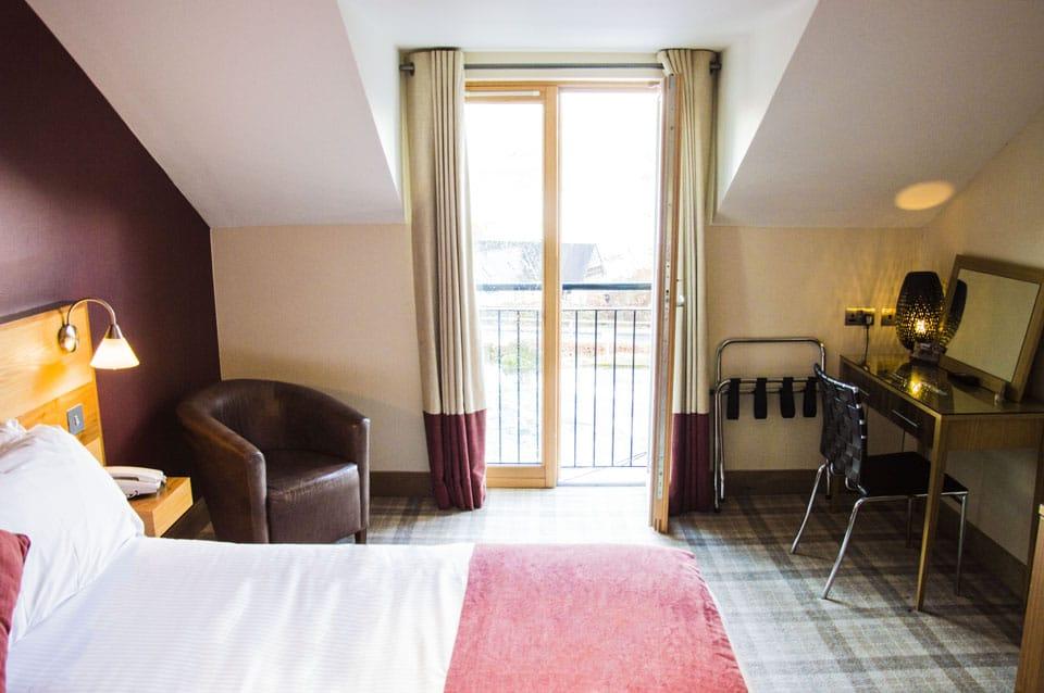 Ben Lomond bedroom view with chair