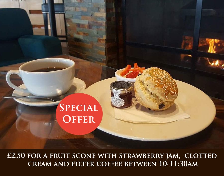 Coffee and Fruit Scone Offer